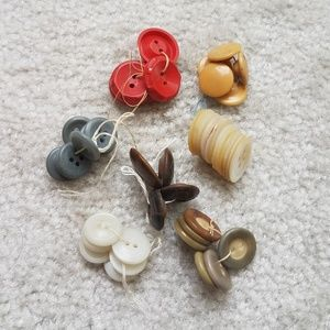 Vintage buttons grouping